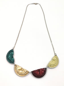 Nespresso coffee pod half moon necklace
