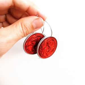 Nespresso coffee pod hoop dangles