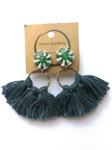 Nespresso coffee pod tassel earrings