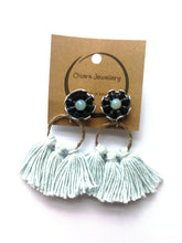 Load image into Gallery viewer, Nespresso coffee pod tassel earrings