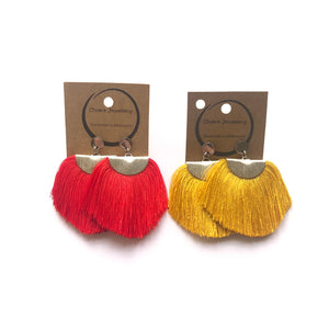 Big tassel earrings