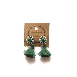 Nespresso coffee pod studs and tassel earrings small