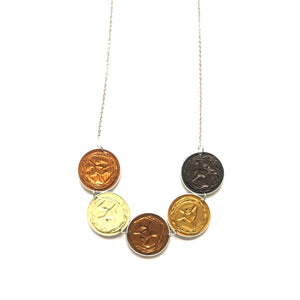 Nespresso coffee pod round necklace