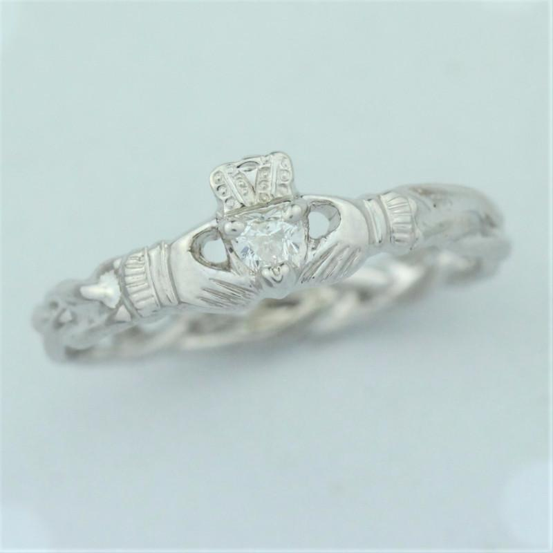 Diamond Claddagh Ring.