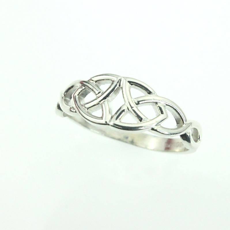 silver ring p knot rings trinity cz sterling celtic