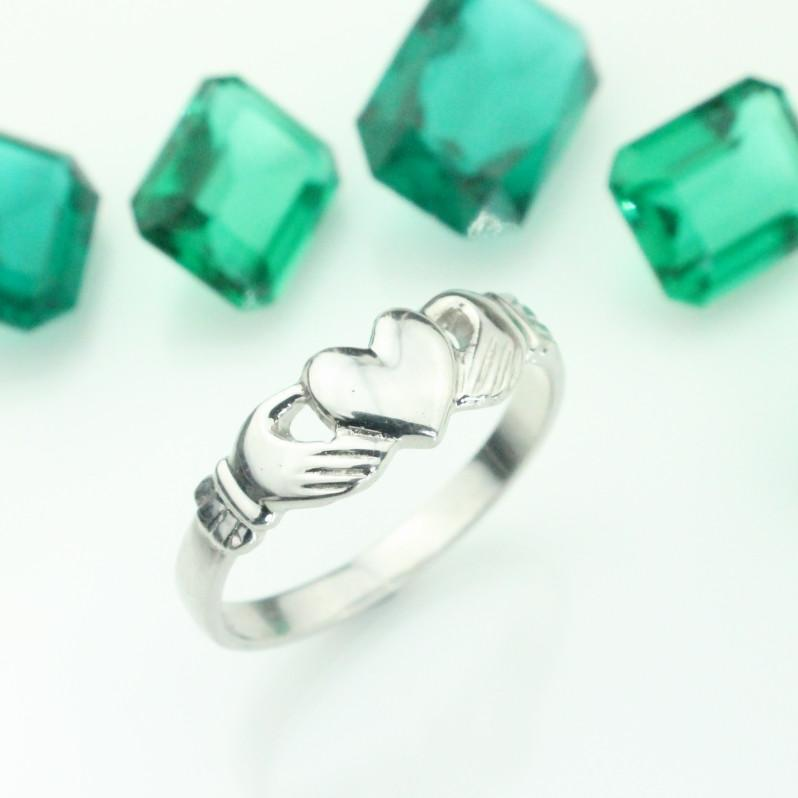 Jewelry - Claddagh Ring, Claddagh Ring Set With Matching Diamond Crown Ring.
