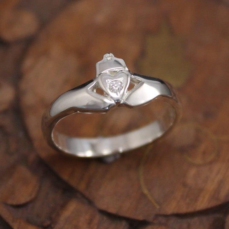 Jewelry - Claddagh Ring, Diamond Claddagh Ring