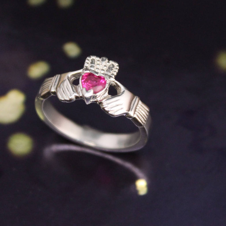 Jewelry - Created Ruby Claddagh Ring
