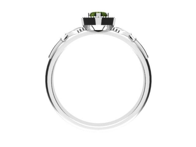 Jewelry - Ladies Claddagh Ring. Real Green Peridot Gemstone Claddagh Ring, Contemporary Irish Celtic Claddagh Ring.