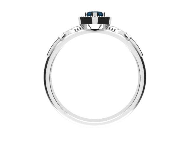 Jewelry - Ladies Real London Blue Topaz Gemstone Claddagh Ring, Contemporary Irish Celtic Claddagh Ring.