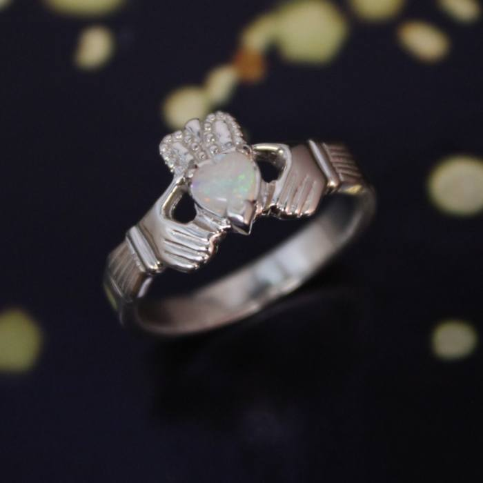 Jewelry - Opal Claddagh Ring