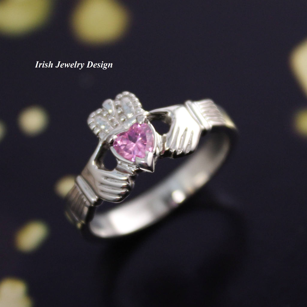 Jewelry - Pink Claddagh Ring