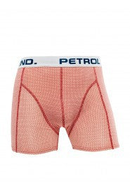 Petrol boxershort fine dot red
