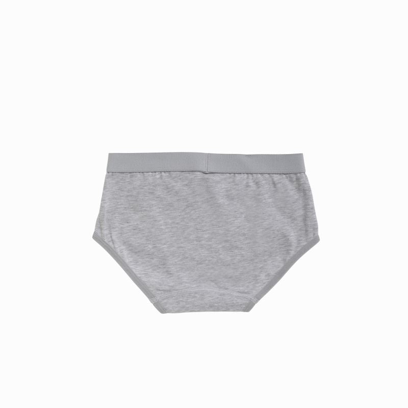 30046 Ten Cate Girls Basic Brief 2-pack 2-6Y - grijs melee