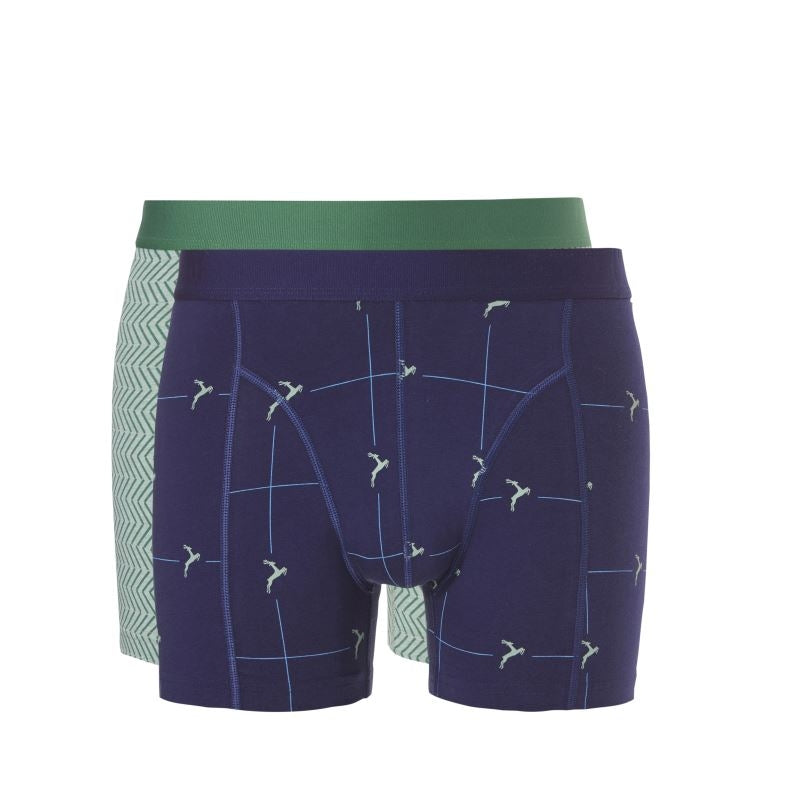Ten Cate Fine Shorts Flash 2-pack - 30307-898-green graphic/navy deer