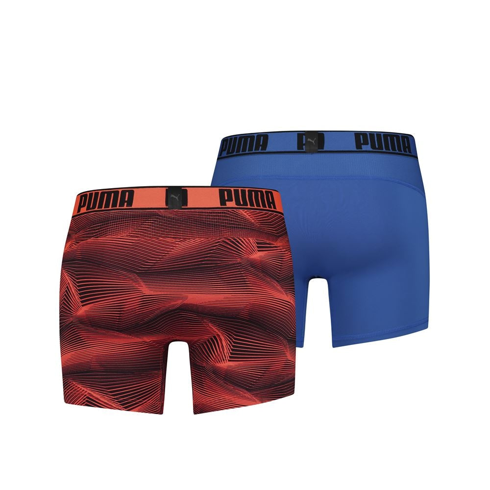 PUMA ACTIVE BOXER PRINT 2P ORANGE