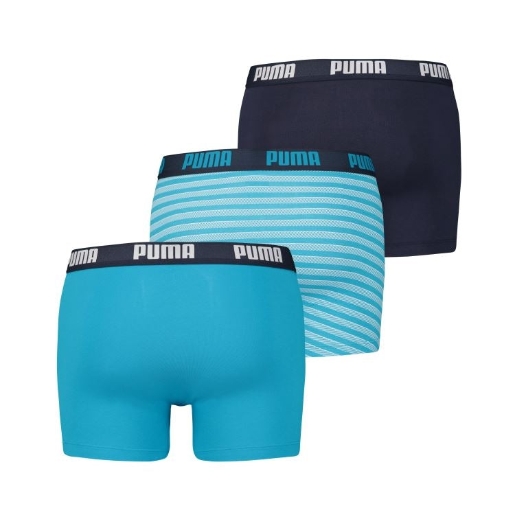 Puma - 3-pack stripe design boxer - 581009001-324-hawaiian ocean