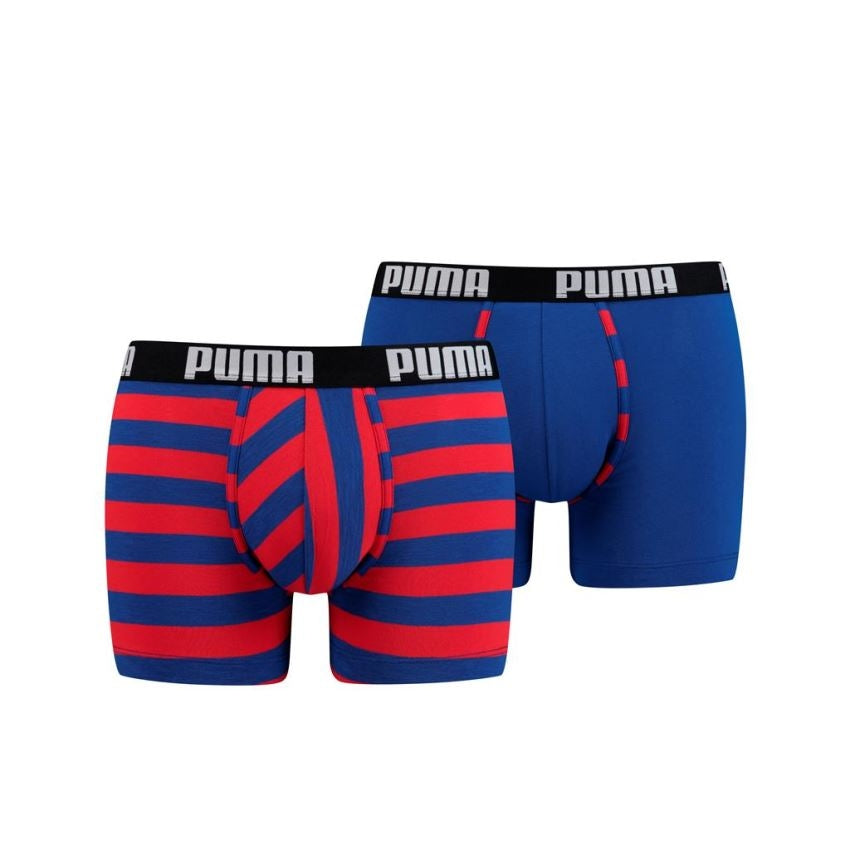Puma Optical Stripe boxer 2-pack - 591002001- 542-blue / red