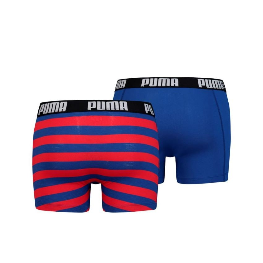 Puma Optical Stripe boxer 2-pack - blue / red
