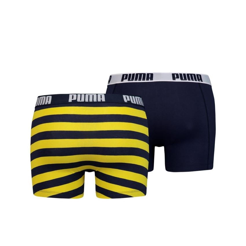 Puma Optical Stripe boxer 2-pack - navy / yellow