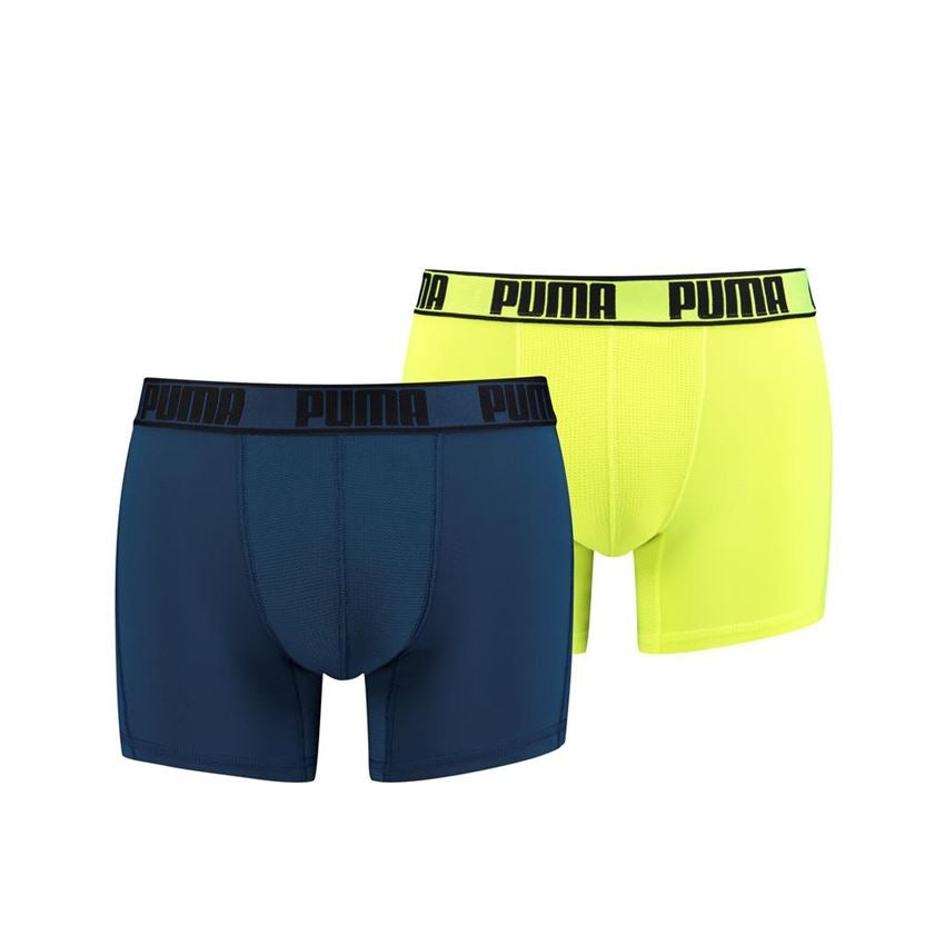 Puma Active Boxer 2-pack - sea green / yellow