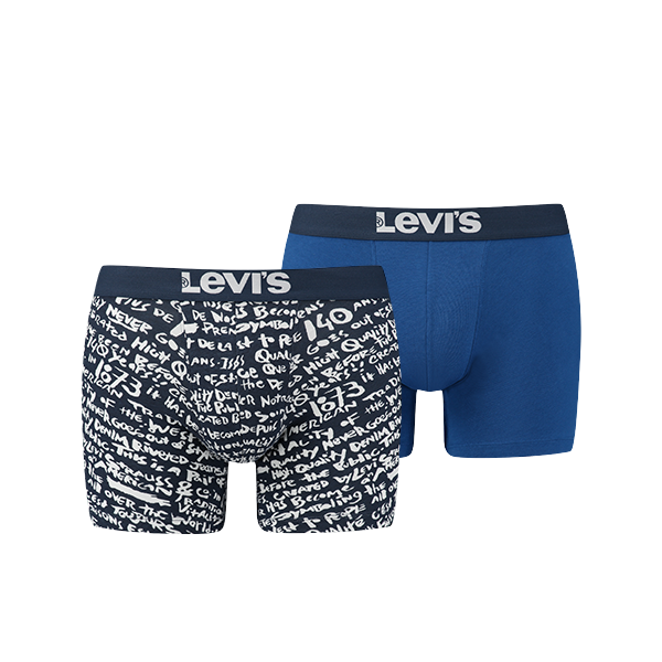 Levi's 200SF Scribble print boxer 2-pack - 985006001-198-dress blues