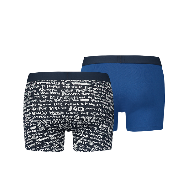 Levi's 200SF Scribble print boxer 2-pack - dress blues