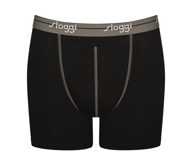 Sloggi Men Start HO Short 2-pack - grijs/zwart