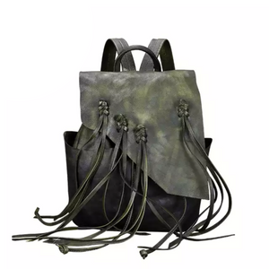 Marianna Green Genuine Leather Backpack