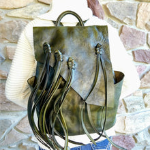 Load image into Gallery viewer, Marianna Green Genuine Leather Backpack