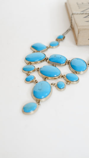 Statement Blue Neckpiece