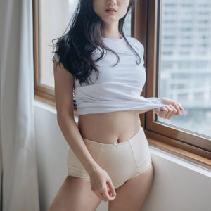 Rejuve Odour-free Organic Cotton High Rise Underwear -Dame Ivory  (1pc pack)