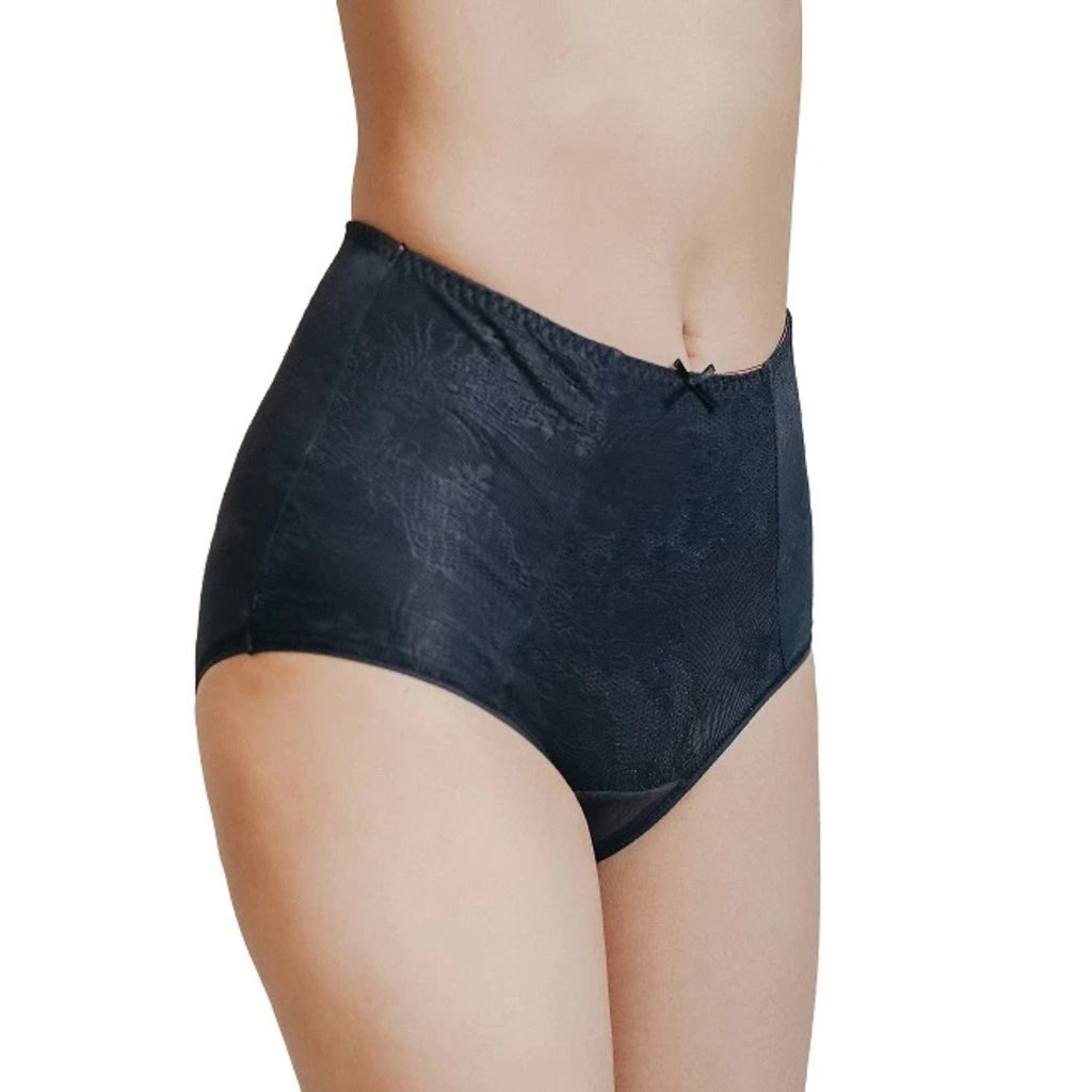Rejuve Odour-free Organic Cotton High Rise Underwear -Dame Black  (1pc pack)