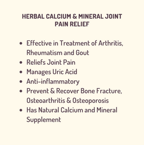 FLEXIBILITY CARE - Herbal Calcium & Minerals for Joint pain relief, Bone strengthening, Rheumatism support - 750 mg 60 vegan caps { Ayurveda & Permaculture principles }