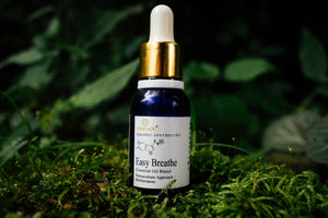 Easy Breathe Essential Oil Blend (Eucalyptus, Peppermint, Holy Basil, Ginger, Rosemary & Champhor)