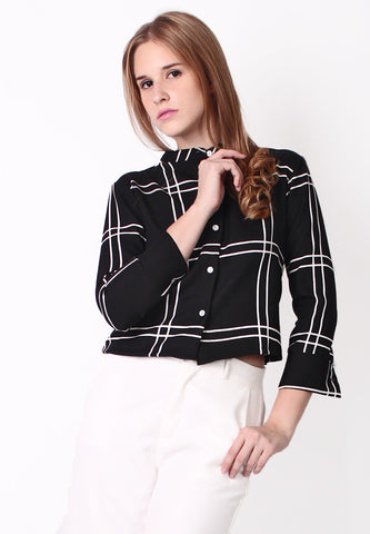 Checker Blazer (Black) - Vodelle.com