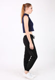 Elastic Exercise Long Pant (Black) - Vodelle.com