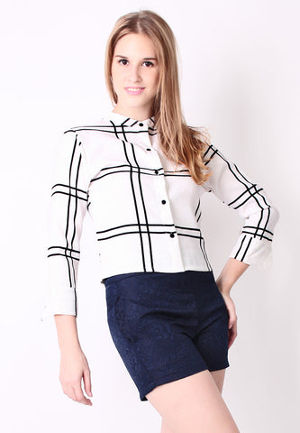Checker Blazer (White) - Vodelle.com