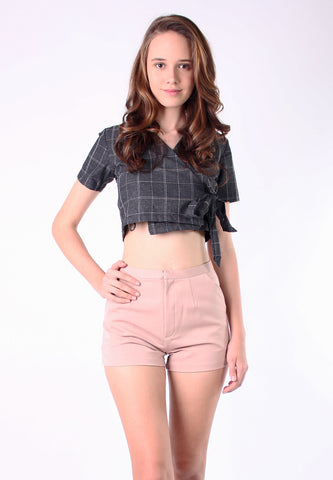 High Waist Pant (Brown) - Vodelle.com