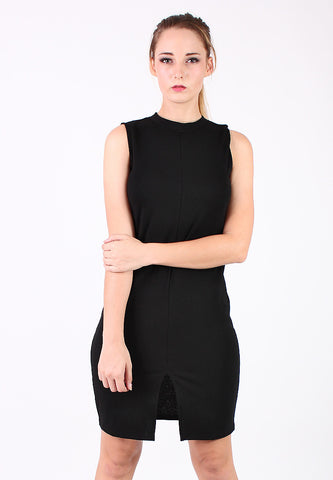 Basic Sleeveless Long Dress (Black) - Vodelle.com
