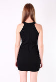 U Neck Dinner Dress (Black) - Vodelle.com
