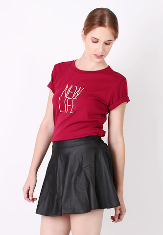 Basic Tee (Red) - Vodelle.com