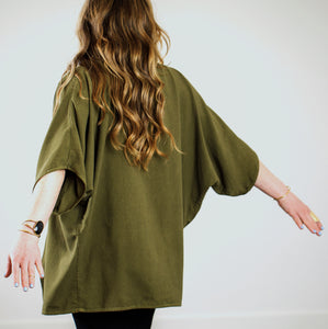 Raw Silk Cardigan