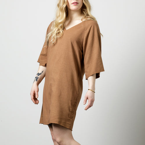 Raw Silk Tee Dress