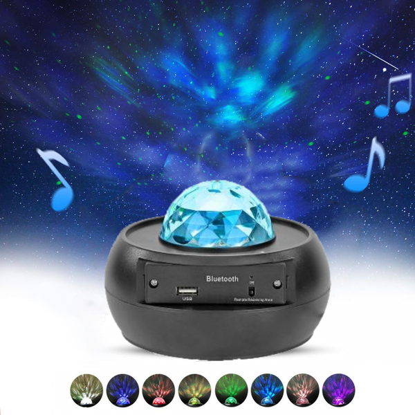 ShopNeste Galaxy Projector Night Light, Sound Activated Music Star Sea Projector, With Bluetooth And USB