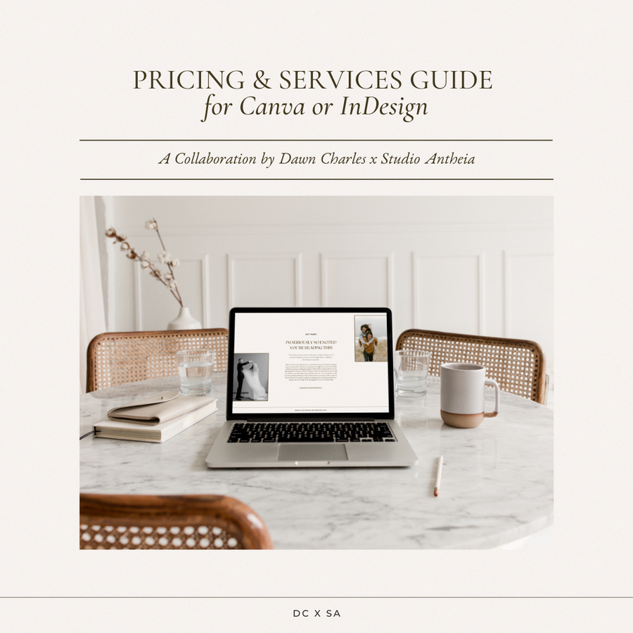 Pricing & Services Guide Template