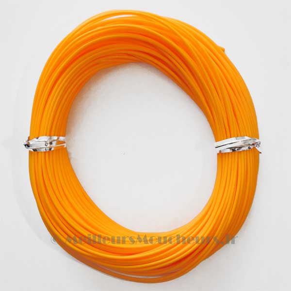 Soie nymphe orange/jaune  fluo WF