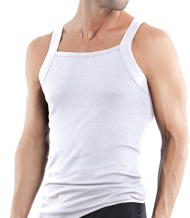 Core 3-Pack Square Neck Tank Top (White)
