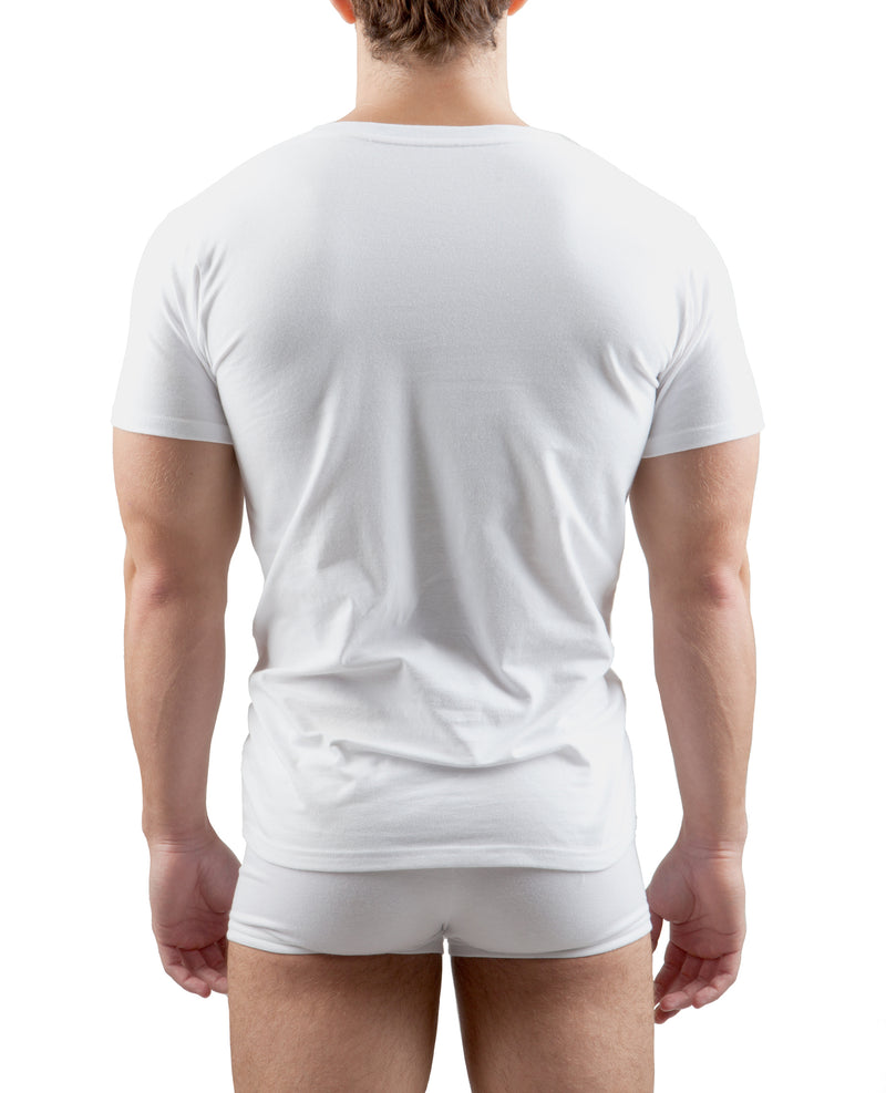 3-Pack Fitted V-Neck (White)