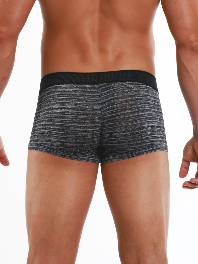 2-Pack Microflex Stripe Trunks (Black/Grey)